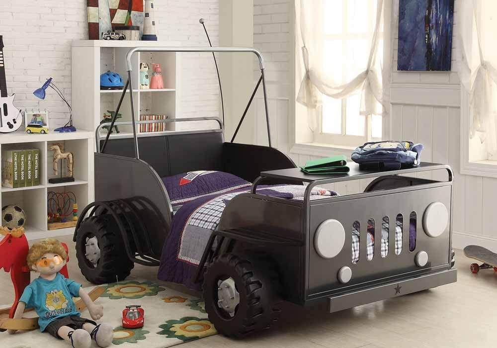 Casper Youth Fun Kids Twin Bed Truck 3D Wheel Car Lover Metal in ...