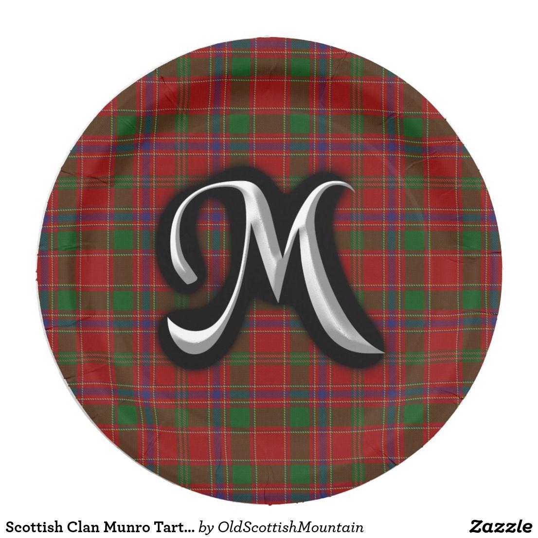 Scottish Clan Munro Tartan Paper Plate  sc 1 st  Pinterest & Scottish Clan Munro Tartan Paper Plate   Clan Munro   Pinterest ...