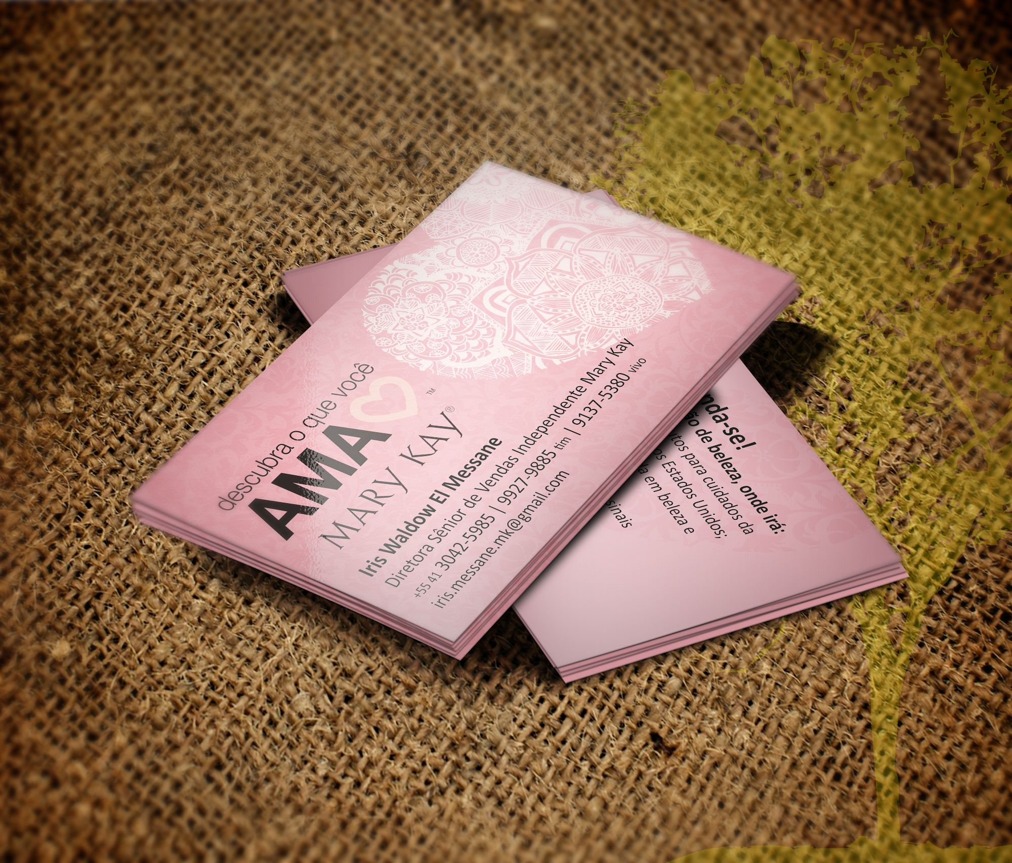 business card independent beauty consultant mary kay by martin cartatildeo de as para diretora mary kay