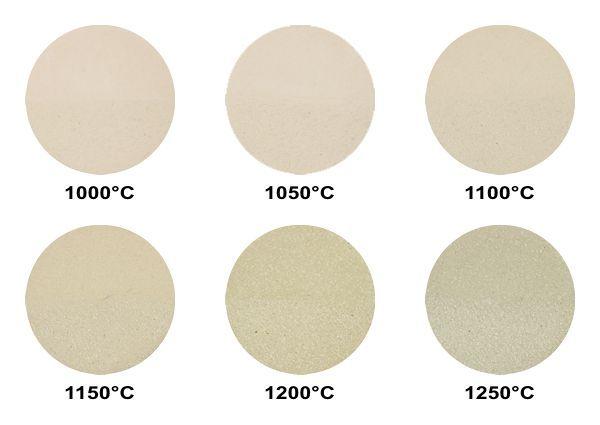 http://shop.keramik.at Aufbaumasse RTM 2505, rosa-gelb-creme Steinzeug, Schamotte 0-0,5 mm / 25% Brenntemperatur: 1000 - 1250°C Trockenschwindung: 5% Brennschwindung: bei 1000°C: 1% / bei 1100°C: 4% / bei 1200°C: 6% Wasseraufnahme: bei 1000°C: 11% / bei 1100°C: 5% / bei 1200°C: 1%