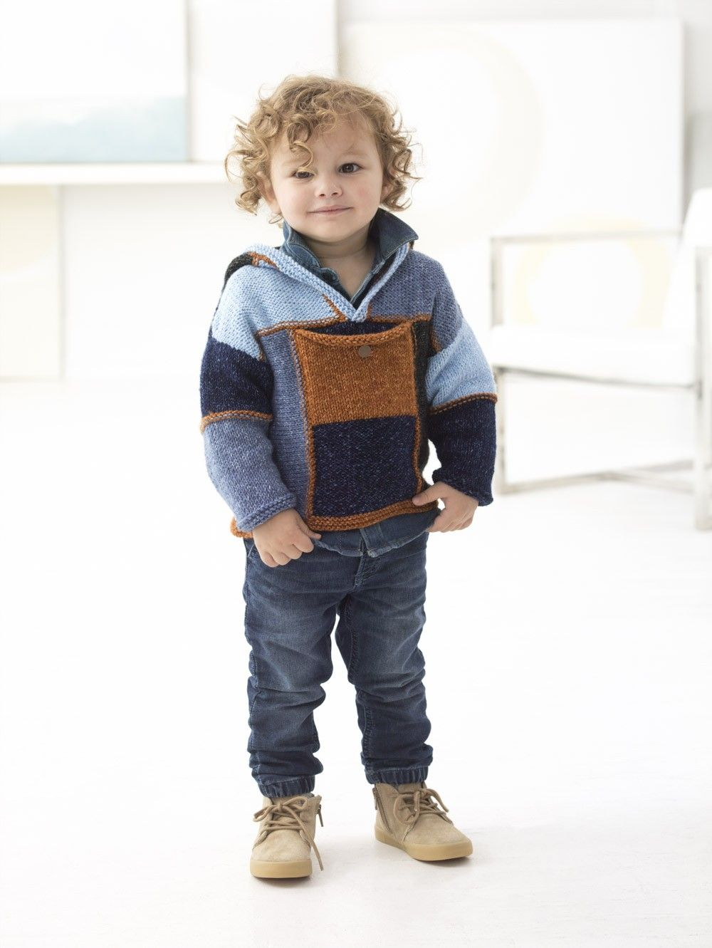 Granville Hooded Pullover (Knit) | Little People Patterns ...
