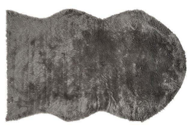 Faux Sheepskin, Gray