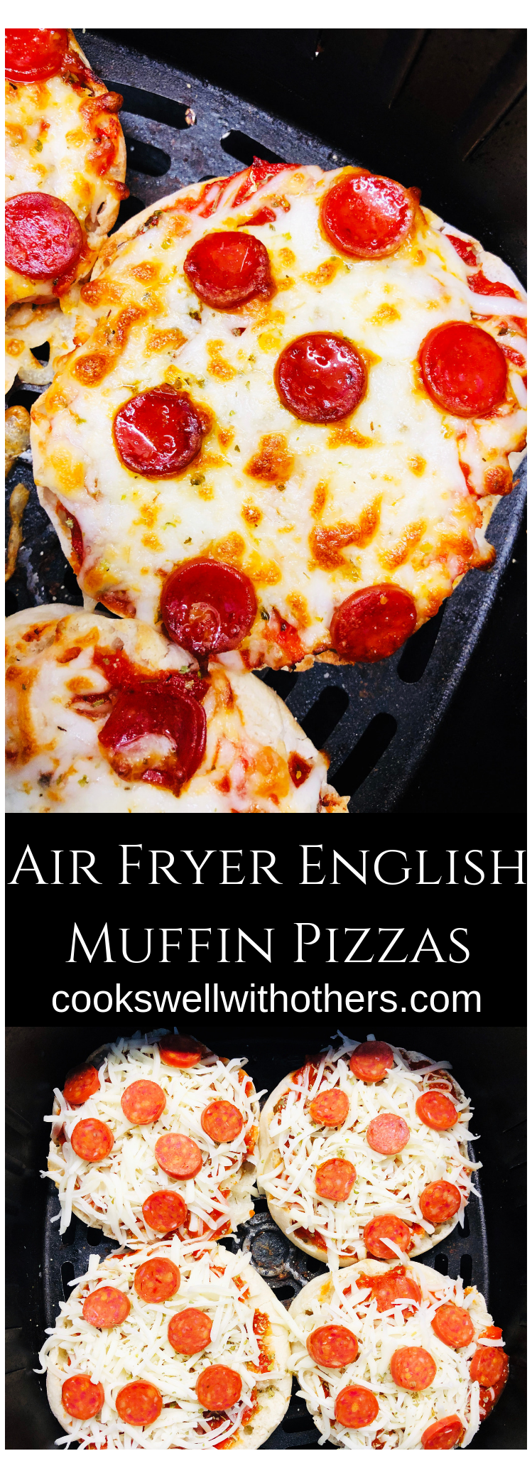 Air Fryer English Muffin Pizzas how to make english