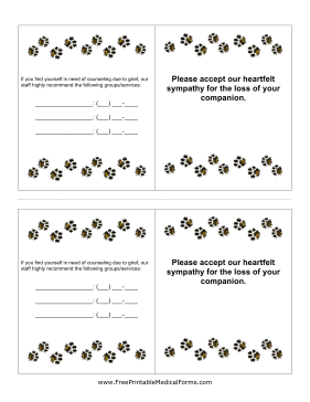 These Veterinary Euthanasia Cards Will Bring Comfort To Your Veterinary Clients Who Have Recently Lost A Pet Th Losing A Pet Veterinary Veterinarians Medicine