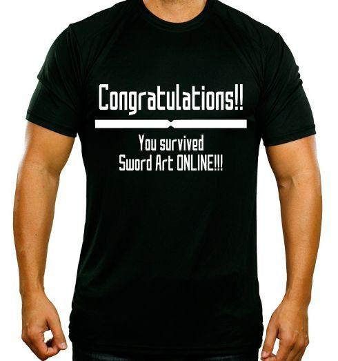 Congratulations You Survived Sword Art Online Parody SAO Shirt ...