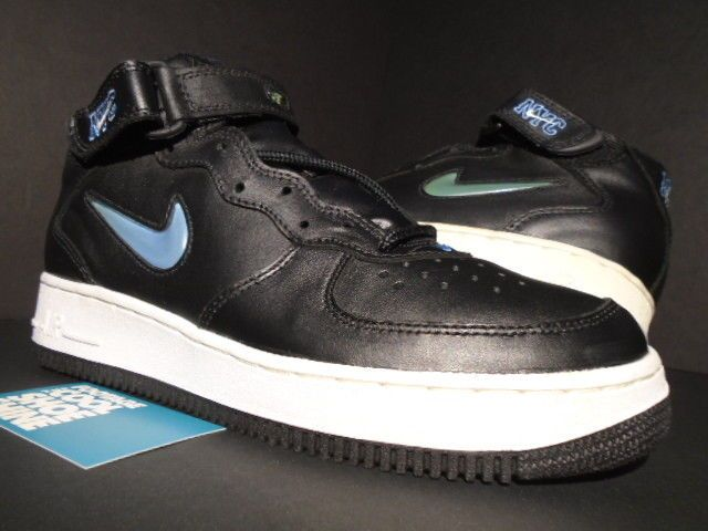 pretty nice e8ff9 b9dff 1996 NIKE AIR FORCE 1 MID SC NYC BLACK CAROLINA BLUE WHITE 630125-042 NEW 9   fashion  clothing  shoes  accessories  mensshoes  athleticshoes (ebay link)