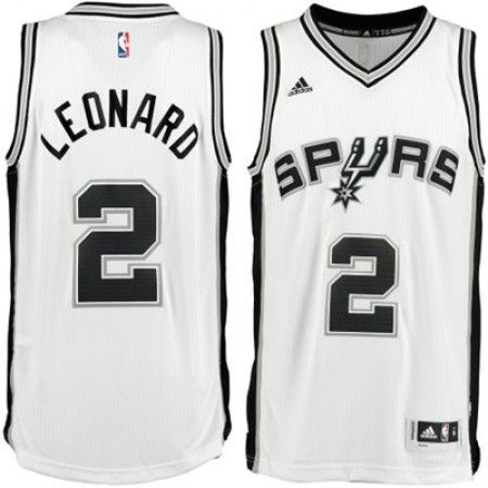 Mens San Antonio Spurs Kawhi Leonard Number 2 Jersey White http://www.
