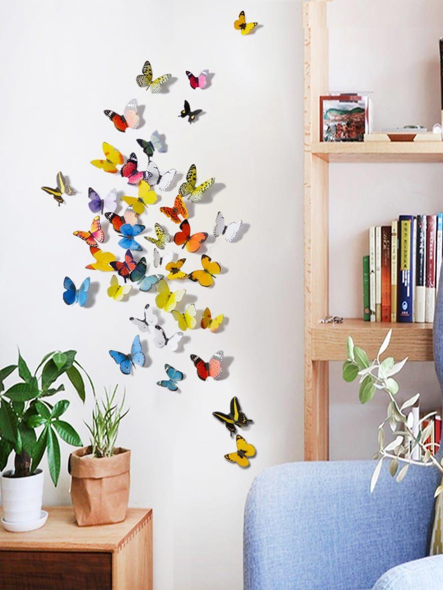 Butterflies Wall Decal Butterflies Wall Sticker For Nursery Baby
