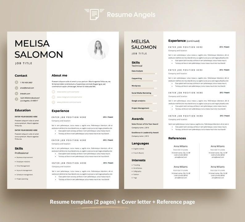 Modello Di Curriculum Modello Cv Proprieta Resume Design Del Cv