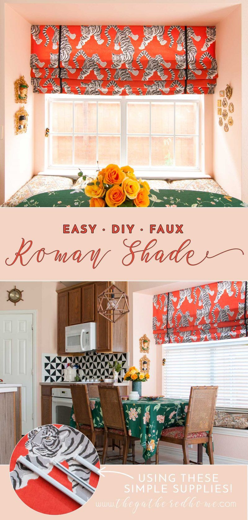 DIY Faux Roman Shade Faux roman shades, Diy window