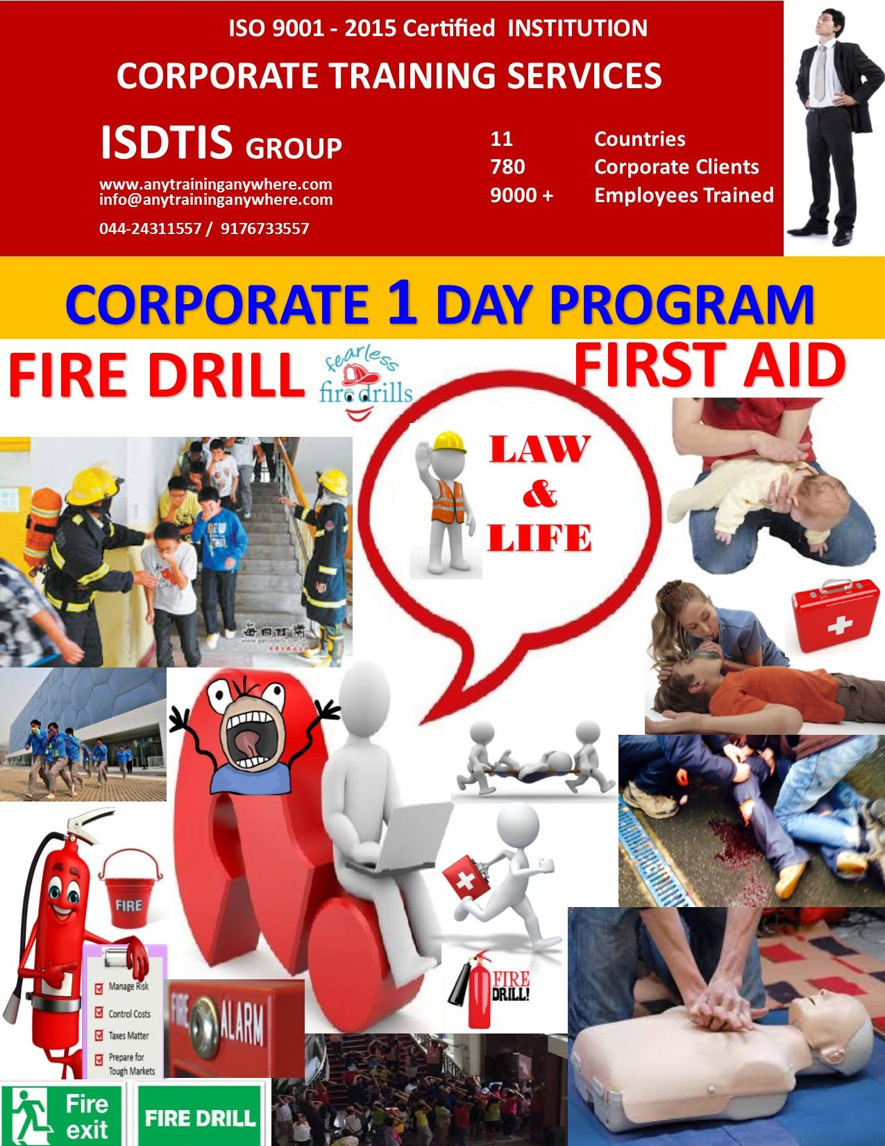 FIRST AID TRAINING IN CHENNAI, FIRE DRILL TRAINING IN