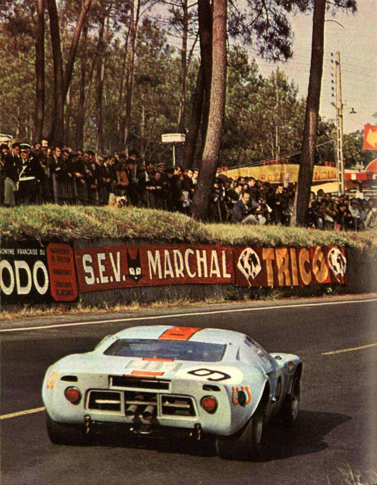 Rodriguez//Bianchi ltd ed//250 art print 1968 Ford GT40 LeMans winner