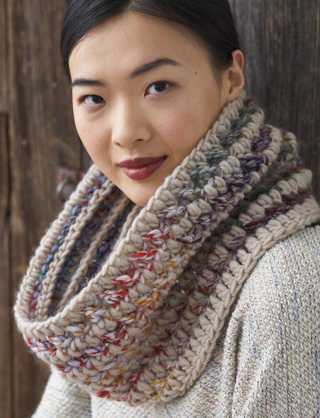 Big Stitch Hat & Cowl - free crochet pattern by Pattons | Crochet y ...