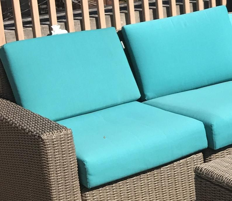 Sunbrella Canvas Outdoor Patio Boxed Cushion Replacement Etsy