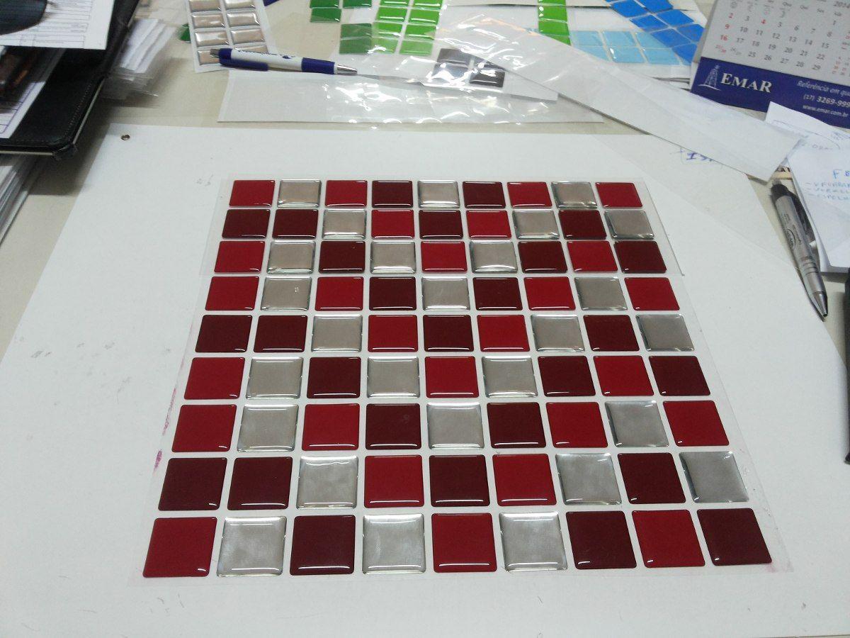 Pastilhas Adesivas Resinadas - Mosaicos - 30cm X 30cm -facil - R$ 33,00 no MercadoLivre
