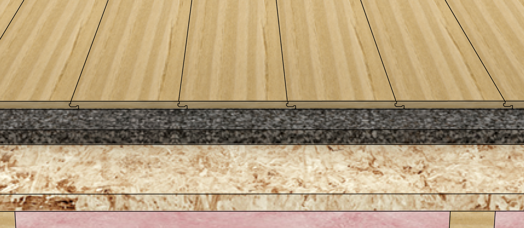 Laminate Flooring Soundproofing Assembly