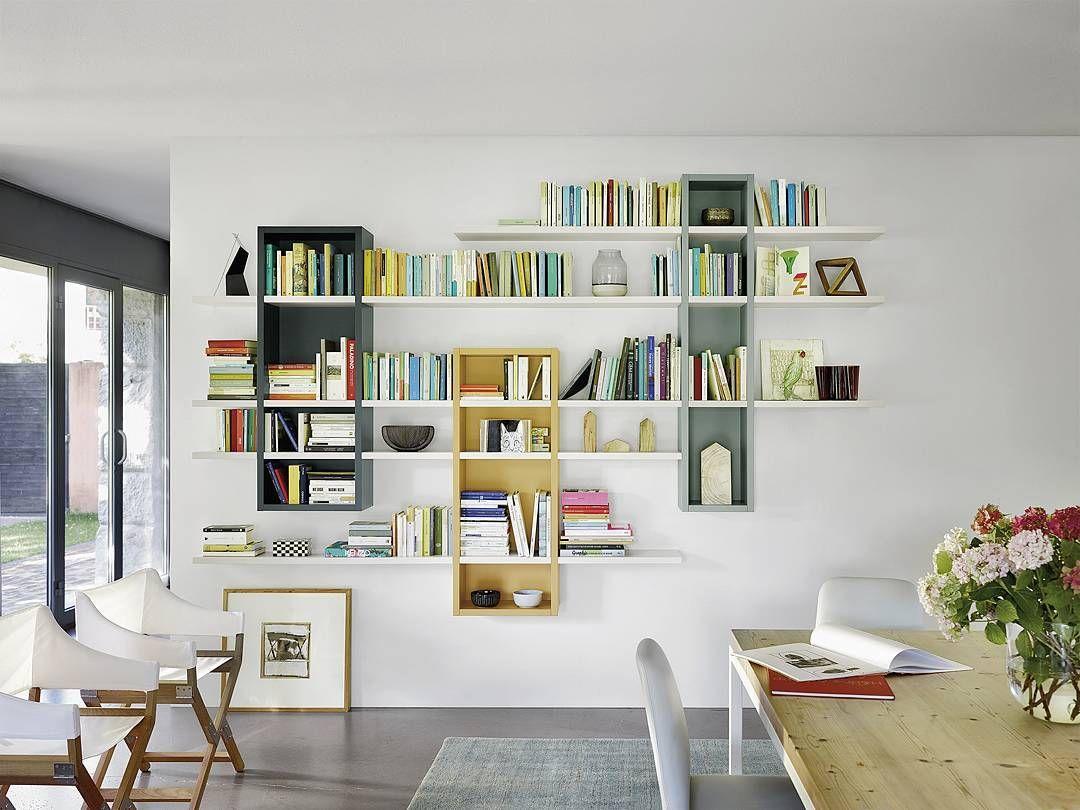 Bücherregal Modern bücherregal für die wand made in italy exklusiv modern