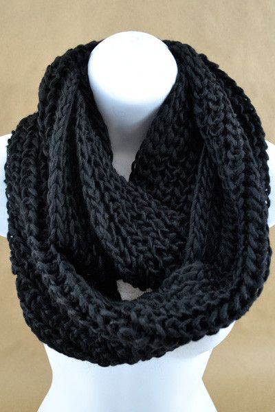 This Chunky Loose Knit Infinity Scarf Rocks Is So Soft And The