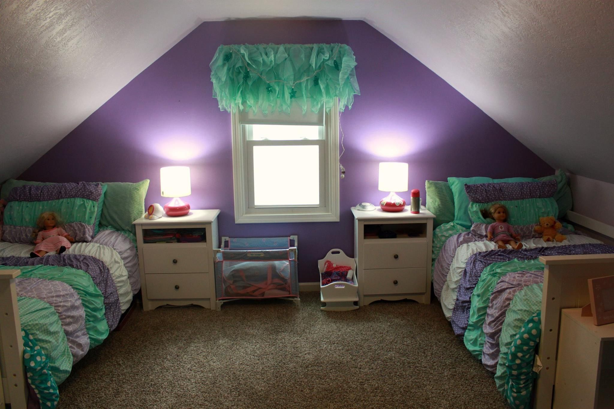 Mermaid Room Sw Brave Purple With Valspar Glitter And Sw