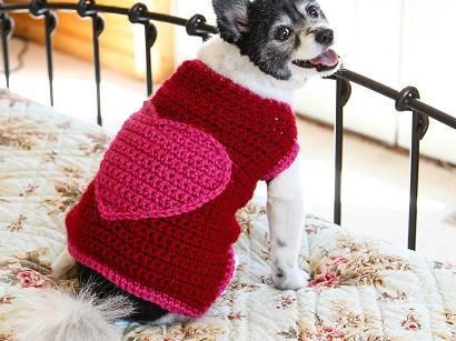 The Romantic Dog Sweater - Crocheting Kit includes Yarn & Pattern ...