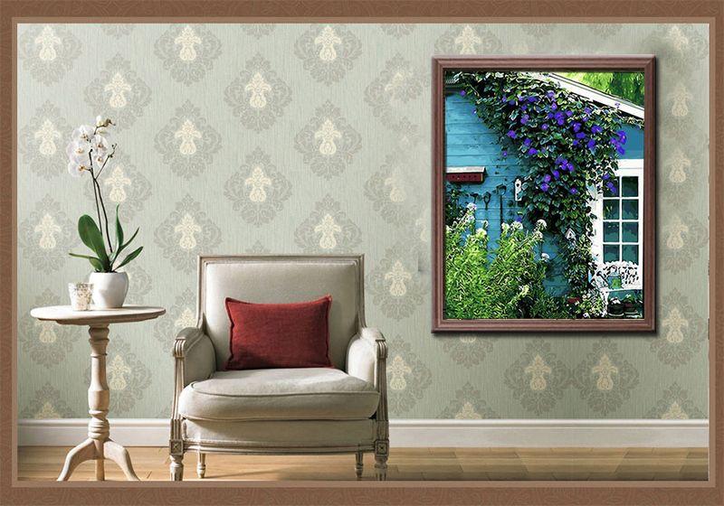 Malen Nach Zahlen Leinwand Vorlage Motiv Blauregen Blumen