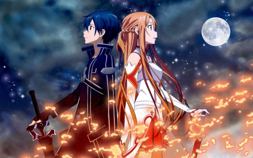 Kirito And Asuna Hd Wallpapers Sword Art Online Gambar Anime Art