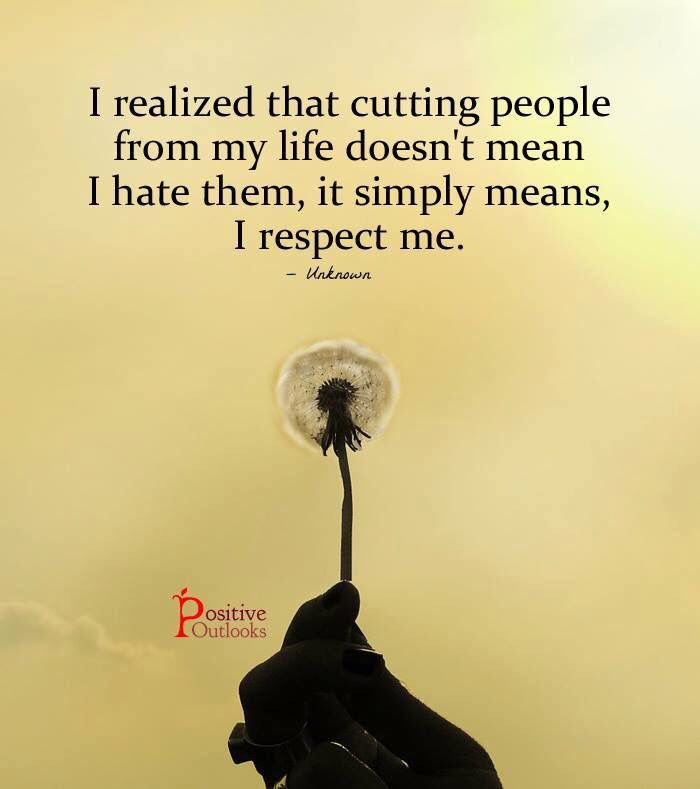 Respect yourself, others will follow suit...