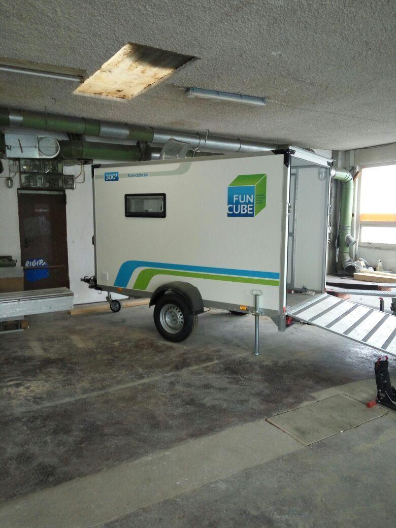 Fun Cube Wohnwagen Mit Garage Motorradschlaf Anhanger Neu Ebay Camper Caravan Remodeled Campers Camping Trailer
