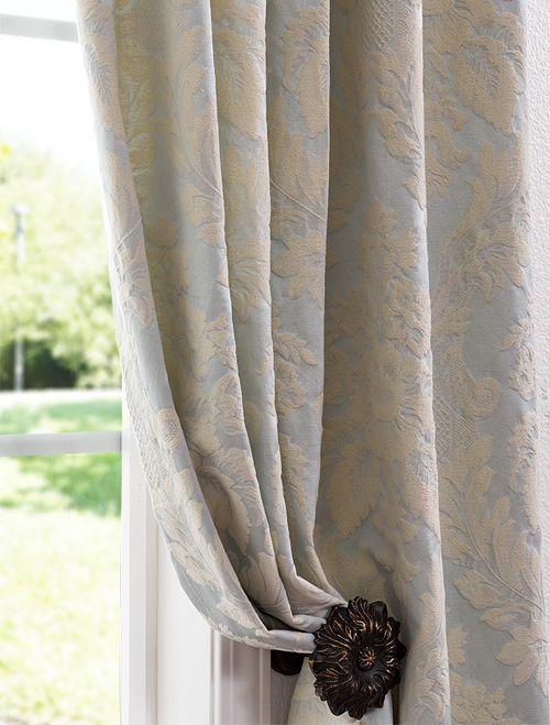 Shop All Cotton Linen Curtains Damask Curtains Blue Curtains Living Room Light Blue Curtains