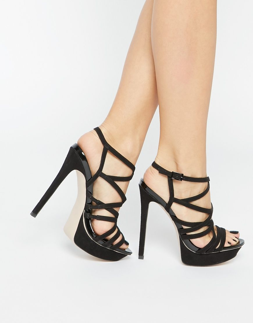 Buy Women Shoes / Asos Hallow Caged Heeled Sandals