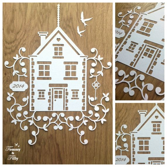 SVG / PDF New Home Design - Papercutting Template to print and cut ...