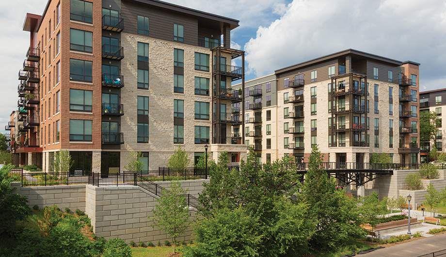 Elan Uptown Emerson Avenue Apartments Architecture Building Facade Design Brick Facade