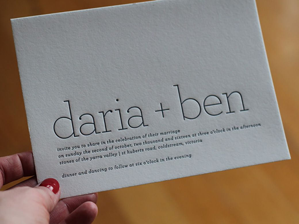Best Letterpress Wedding Invitations: Five Of The Best Letterpress Wedding Invitation Designs Of