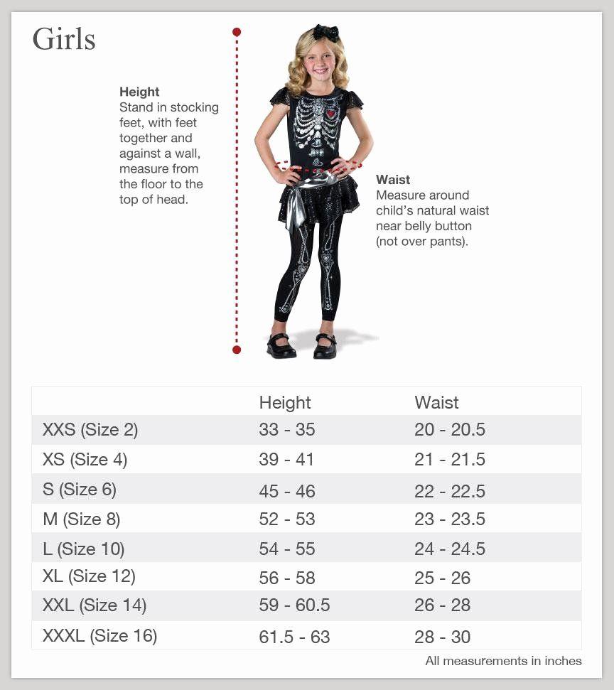 Clothing Size Chart Template Luxury Size Charts Incharacter Costumes Clothing Size Chart Size Chart Plus Size Clothing Australia