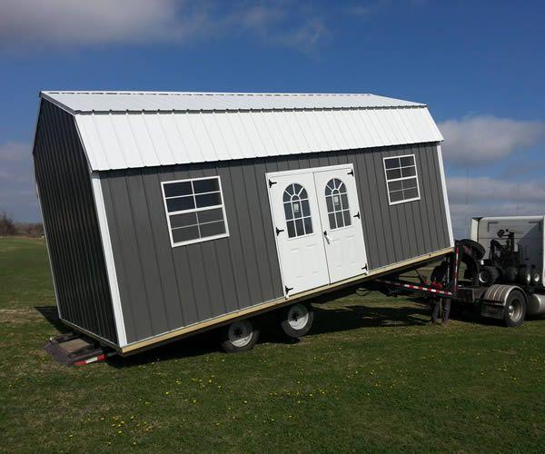 Derksen 16x32 Shed: Derksen Portable Painted Side Lofted Barn Storage Building