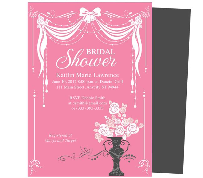 Canopy Bridal Shower Invitation Templates Easy printable DIY – Free Bridal Shower Invitation Templates for Word