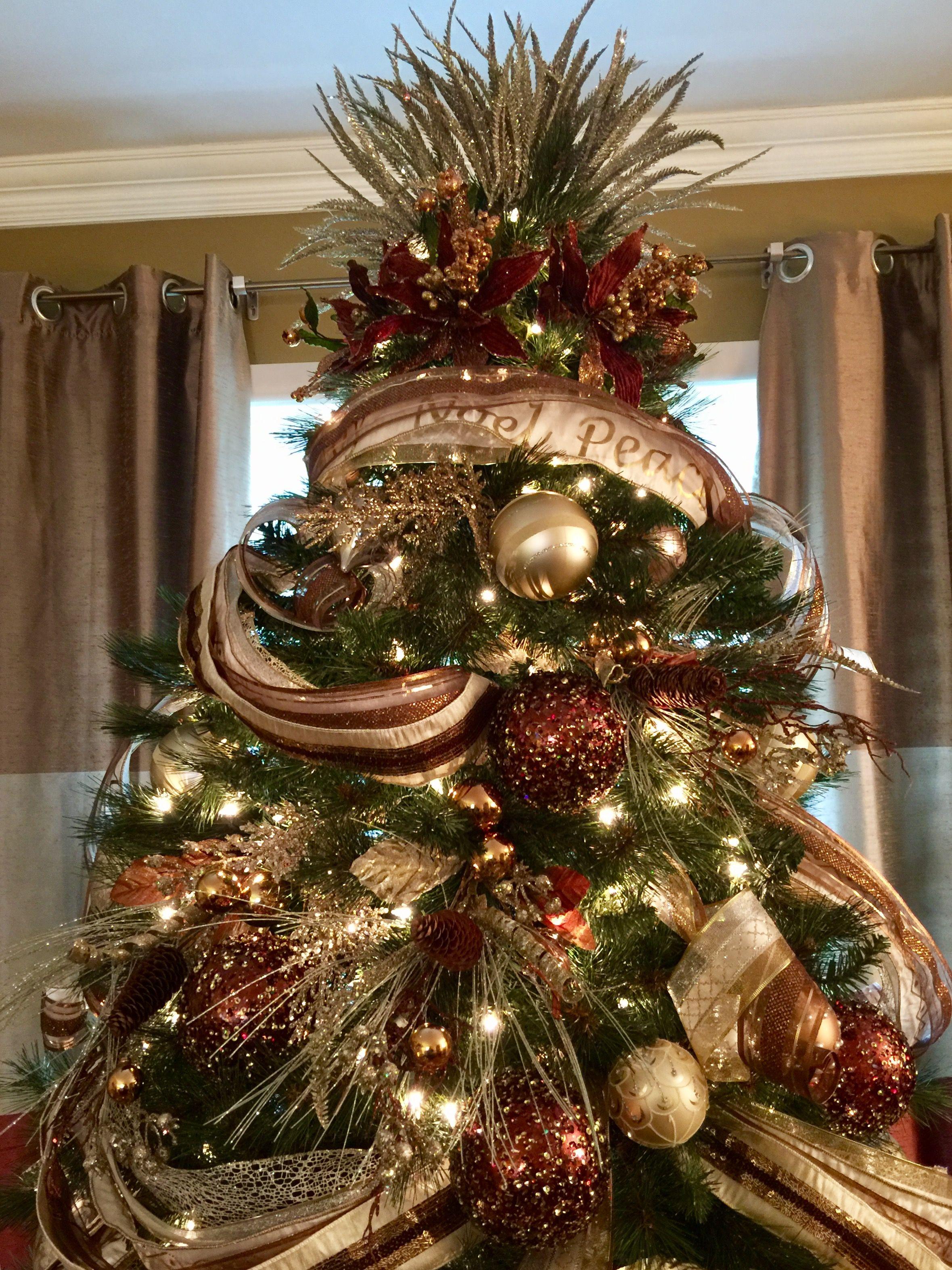 Christmas Ribbon Styles Elegant Christmas Trees Christmas Tree Themes Christmas Tree Decorations