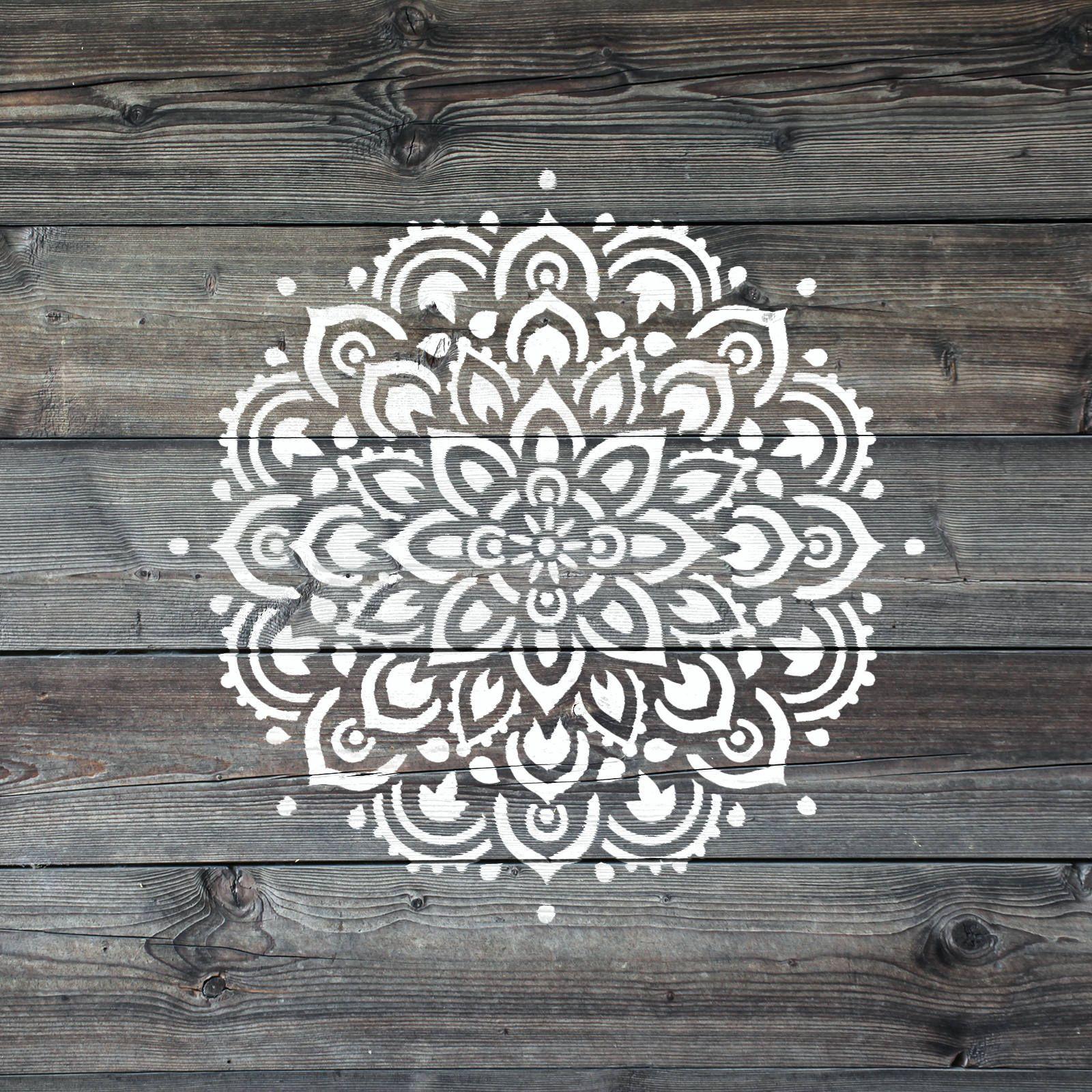 Mandala Stencil for Walls and DIY Crafts - Reusable Wall Stencils of ...