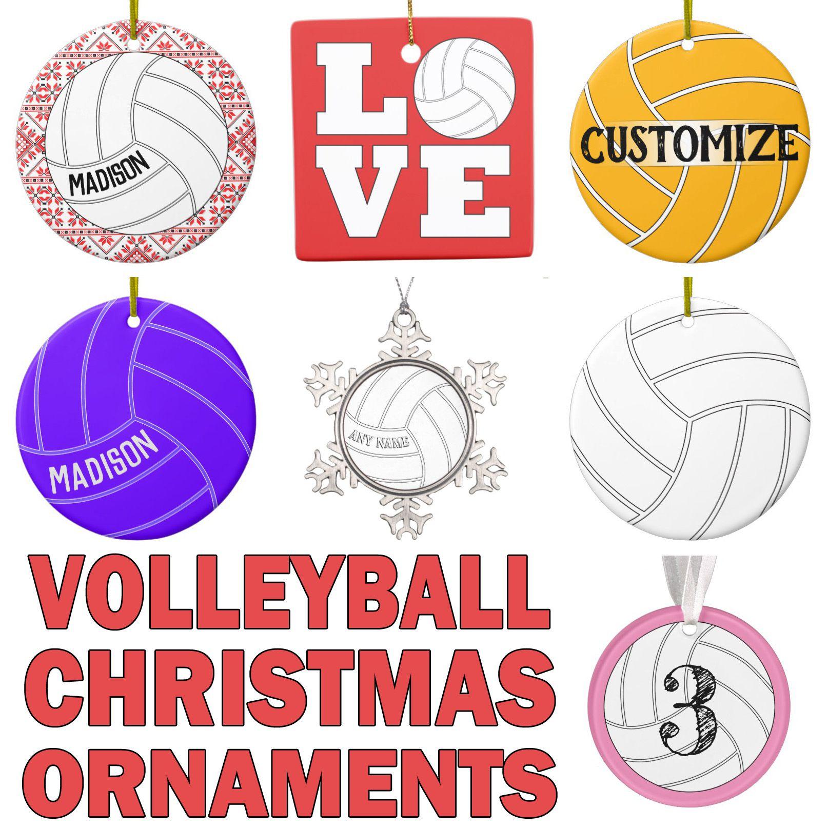 Customizable Christmas Ornaments For Volleyball Players Volleyball Christmas Volleyball Christmas Volleyball Volleyball Ornaments
