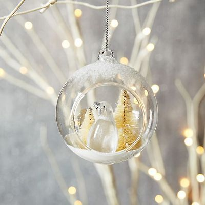 Details About Vtg Clear Glass Christmas Tree Ornament