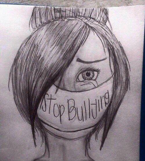 Stop al bullismo progetto scolastico pinterest - Immagine di una ragazza a colori ...