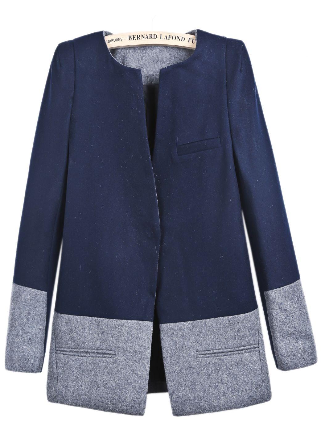 cappotto blu donna shein side