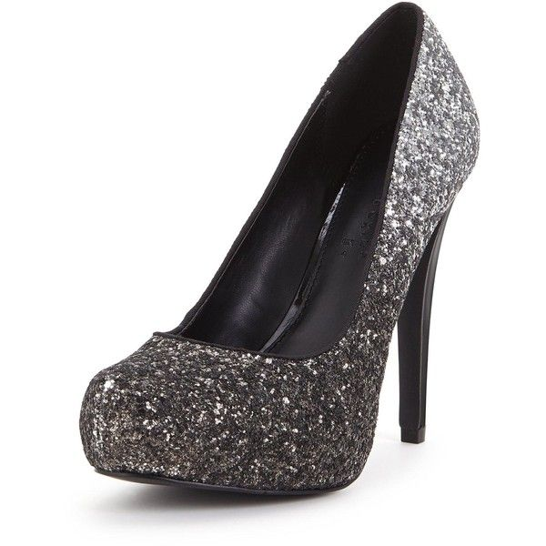 Shoe Box North Platform Graduated Glitter Court ( 20) ❤ liked on Polyvore  featuring shoes 150705b8b5bb