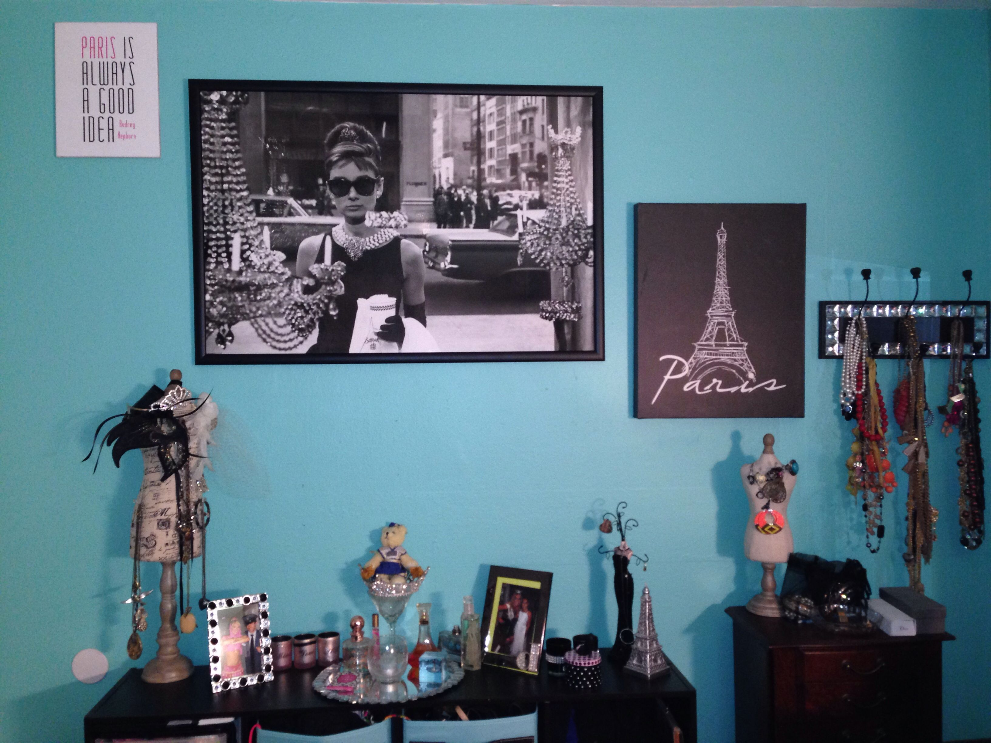 My Audrey Hepburn And Tiffany Blue Closet Room Breakfast At S Theme