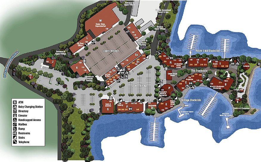 lake arrowhead village map Village Map Lake Arrowhead Village Lake Arrowhead Village Lake lake arrowhead village map