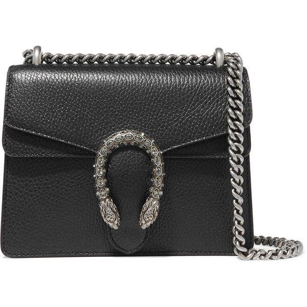 Dionysus Mini Textured-leather Shoulder Bag - Black Gucci RHDJ8