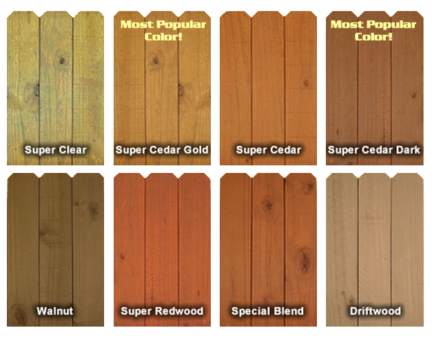 Finish Colors Cedar Fence Stain Staining Deck Cedar Fence