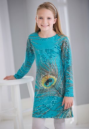 3dae58441 From CWDkids  Peacock Sequin Dress