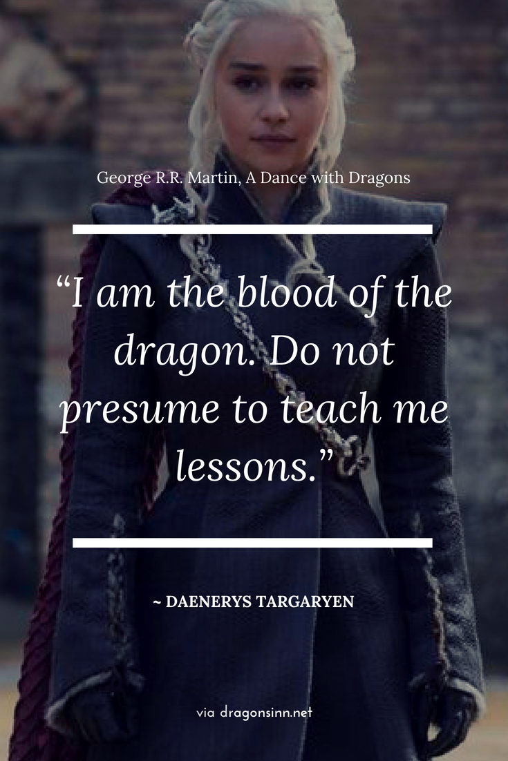 Game of Thrones, dragon quote. in 2019 | Dragon quotes, Game ...