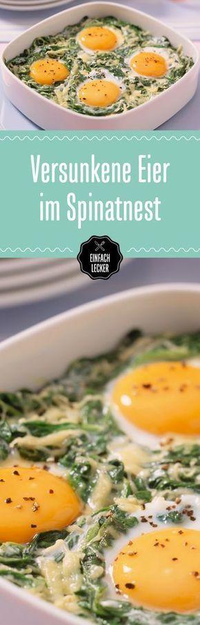 Versunkene Eier im Spinatnest #vejetaryentarifleri